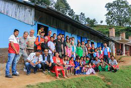school trip at Building & Community in Nepal