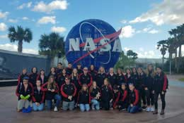 school trip at STEM trip to NASA, Florida, USA