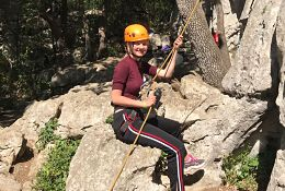 school trip at Ardeche Adventure