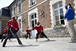 school trip at Chateau du Broutel