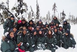 school trip at Sweden Winter Wilderness