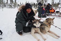 school trip at Sweden Arctic Service, Husky Camp Programme