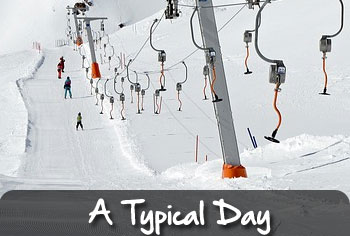 typical ski day