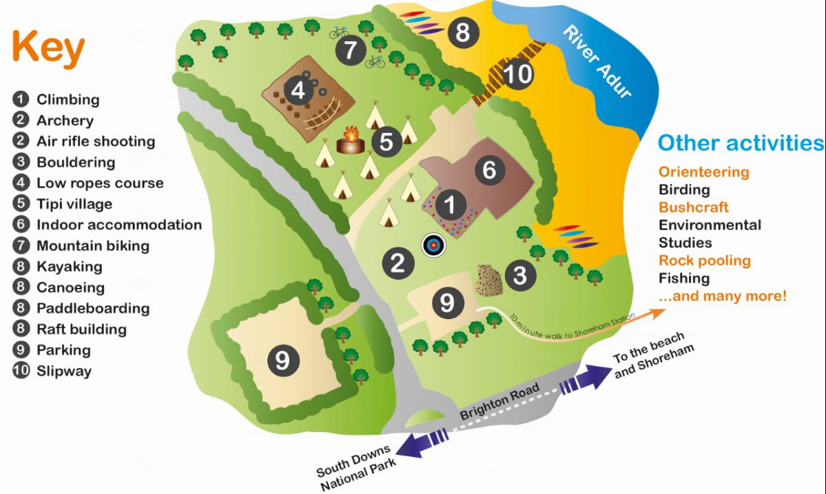 activity centre map