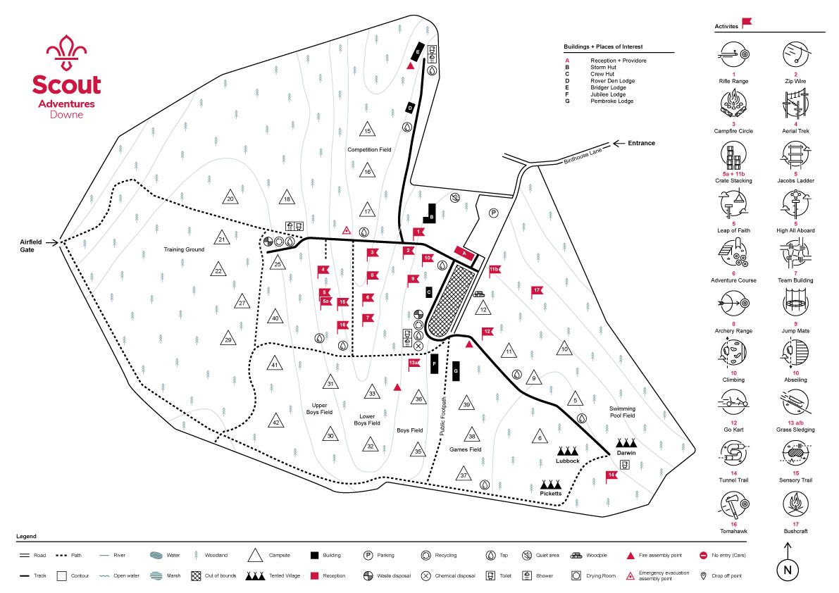 activity centre map