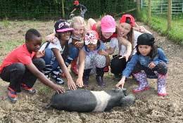 school trip at Magdalen Farm