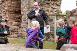 school trip at Goodrich Castle