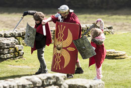 school trip at Housesteads Roman Fort