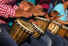 African Drumming photograph