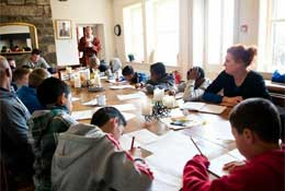 school trip at Arvon – Lumb Bank, Yorkshire