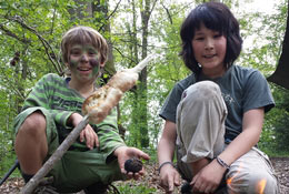 school trip at North Wales Bushcraft Residential
