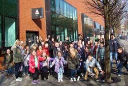 school trip at Cardiff City Sleepover