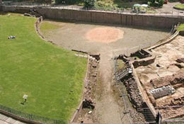school trip at Chester Roman Amphitheatre