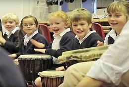 school trip at African Drumming