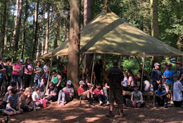 school trip at Woodland Ways Bushcraft Residentials - Derbyshire