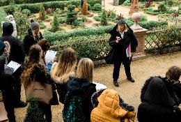 school trip at Kenilworth Castle and Elizabethan Garden