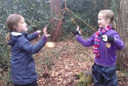 Bushcraft with the Field Studies Council school groups