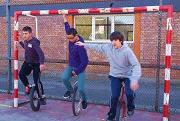 school trip at Circus Team Building Workshops