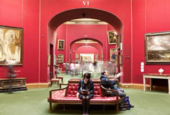 school trip at National Galleries of Scotland