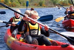 school trip at Galloway Activity Centre