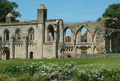 school trip at Glastonbury Abbey