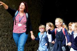 school trip at Dover Castle