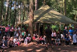 school trip at Woodland Ways Bushcraft - Leicestershire