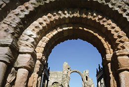 school trip at Lindisfarne Priory