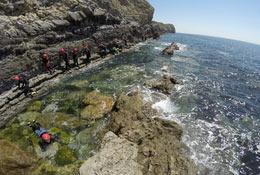 school trip at Adventure Education on the Jurassic Coast