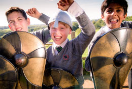 school trip at 1066 Battle of Hastings, Abbey and Battlefield