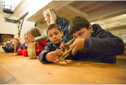 school trip at National Museum Of The Royal Navy in Hartlepool
