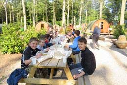 school trip at Oaker Wood Leisure