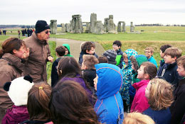 school trip at Stonehenge