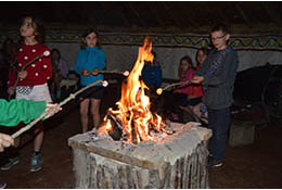 school trip at Prehistory Residential Trips