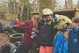 school trip at Bentley Copse Activity Centre