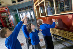 school trip at Riverside Museum