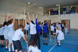 school trip at Roman Workshops