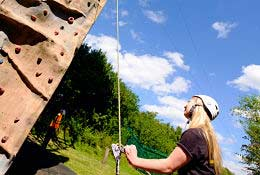 school trip at  Ackers Adventure Residential centre