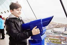 school trip at Emirates Spinnaker Tower