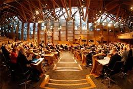 school trip at Scottish Parliament