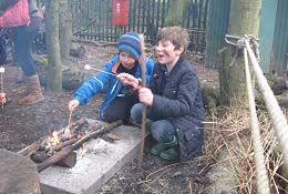 school trip at Stone Age School Trip
