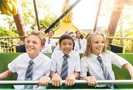 school trip at Thorpe Park