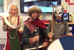 school trip at Viking School Days