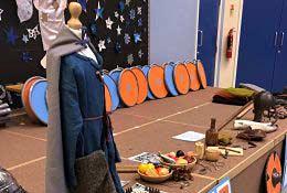 school trip at Viking and Saxon Workshops