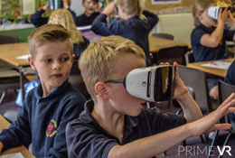 school trip at Polar Regions VR Workshop